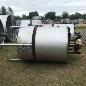 5 Available 800 Gallon Stainless Steel Mixing Tank 3 Hp Reliance W Gear Box