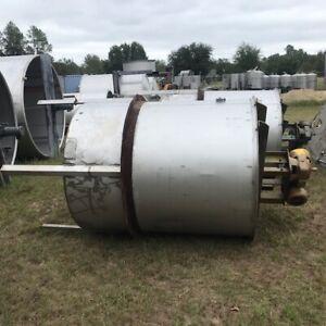 800 Gallon Stainless Steel Mixing Tank 3 Hp Reliance W Gear Box