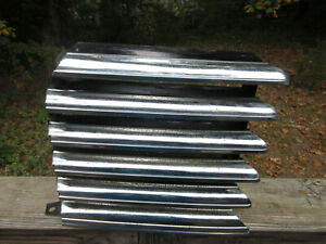 1941 Pontiac Grille Section Part I Think 6 Ribs Chrome The Other Side