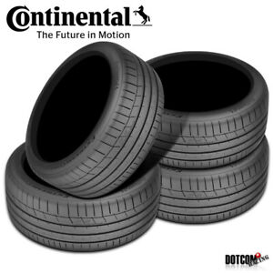 4 X New Continental Extremecontact Sport 295 35r18 99y Performance Summer Tire