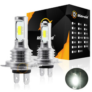 H7 Led Headlight Bulbs Conversion Kit Hi Lo Beam 80w 8000lm 6000k Super Bright