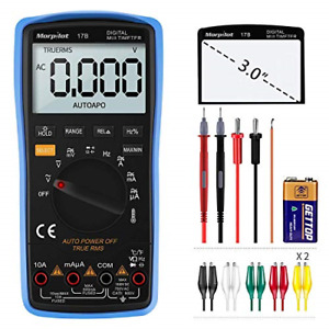 Digital Multimeter 2 In 1 Manual And Auto Ranging 6000 Counts 3 Inch Lcd Display