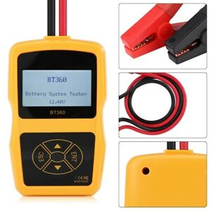 12v Bt 360 Automotive Load Battery System Tester Digital Analyzer Test Tool Part