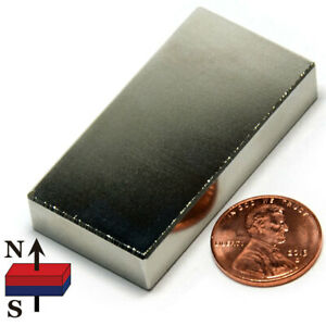 Cms Magnetics Neodymium Magnets Block N52 2 X 1 X 3 8 Ndfeb Rare Earth Magnets