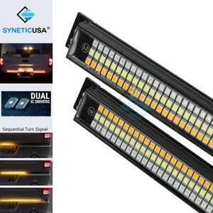 Syneticusa 60 Tailgate Led Rigid Light Bar Sequential Amber yellow Turn Signal