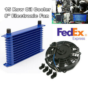 15 Row Engine Trans Transmission An 10 Oil Cooler With 12v 8 Elec
