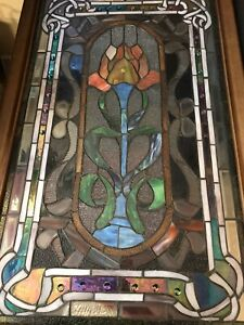 Gorgeous Tulip Large Leaded Stained Glass
