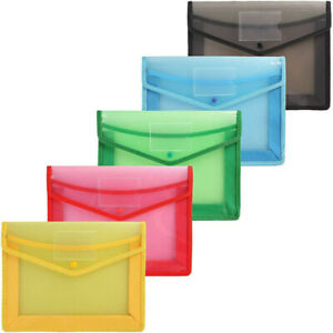 Plastic File Folder Case Office Document Bag A4 Stationery Holder Organizer Bag