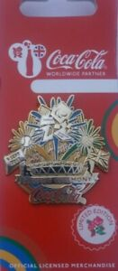 OFFICIAL LONDON 2012 COCA COLA PARALYMPIC CLOSING CEREMONY PIN BADGE MOC