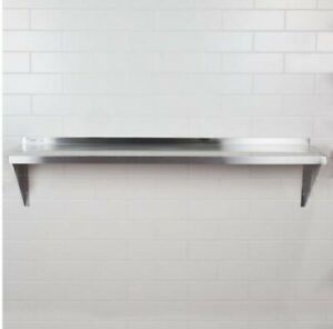 Solid Wall Shelf Stainless Steel Restaurant Kitchen Equipment 12 x60 Shelving