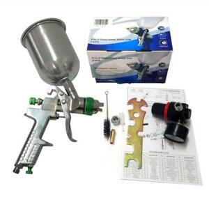 2 5mm Hvlp Gravity Feed Spray Gun W Regulator Auto Paint Primer 600ml