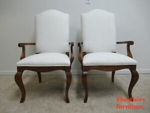 2 Ethan Allen Legacy French Country Dining Room Desk Arm Chairs