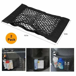 2pcs For Subaru Car Suv Trunk Cargo Net Seat Back Storage Mesh Net Organizer