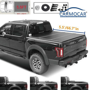 Tonneau Cover For 2007 2018 Toyota Tundra 5 5ft Short Bed Hard Tri Fold Truck