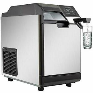 2 In 1 Commercial Ice Maker Ice Making Machine W Water Dispenser 110lbs 24hrs