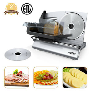 Commercial Home Electric Meat Slicer With 2 Blades 7 5 Bread Deli Food Cutter
