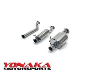 Yonaka 02 06 Acura Rsx Type S Polished Stainless Steel Catback Exhaust 3 5 Tip