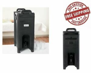 5 Gallon Insulated Coffee Tea Hot Cold Catering Beverage Drink Dispenser Black