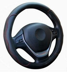 Black Red Pu Leather Car Steering Wheel Cover 38cm 15 37 Universal Good Grip