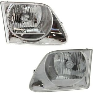 Headlight Lamp Left and right For F150 Truck F250 Lh Rh Fo2503182 Fo2502182