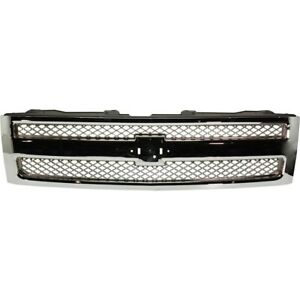22849840 Gm1200655 Grille For Chevy Chevrolet Silverado 1500 Truck 2007 2013