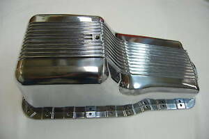 Polished Aluminum Finned Front Sump Oil Pan Ford 260 289 302 Small Block