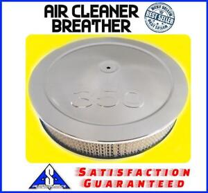 14 Muscle Car 350 Logo Chrome Air Cleaner Breather Washable Filter