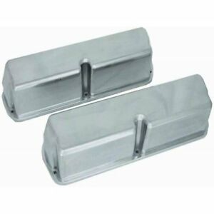 Sbf Ford 289 302 351w Plain Aluminum Valve Covers Polished Aluminum