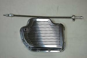 Turbo Th 400 Aluminum Transmission Pan Th400 Dipstick Fits Sbc Bbc Chevy