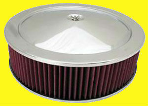 14 Chrome Air Cleaner Breather Washable Filter Oiled 4 Fits Ford Chevy Sbc Bbc