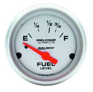 Auto Meter 4315 Gauge Fuel Level 2 1 16 73 E To 10 F Electric Ultra Lite