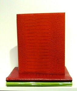 Graphic Image Leather Portfolio 9x12 W 8 1 2x11 Pad Croc Embossed