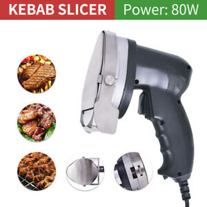 Portable 80w Electric Kebab Cutter Slicer Doner Shawarma Cutting Machine Us