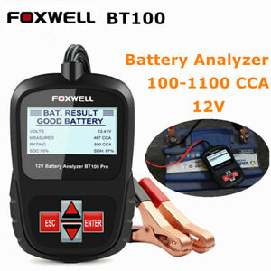 Battery Tester 12v Auto Digital Car Battery Analyzer Load Tester 100 1100 Cca