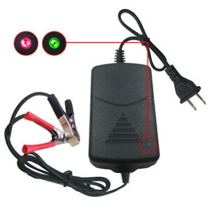 Universal12v 1a Portable Car Truck Motorcycle Alligators Clip Battery Charger