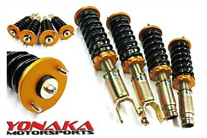 Yonaka Full Coilovers Acura El Suspension 97 98 99 00 Shocks Springs 97 00 Ek
