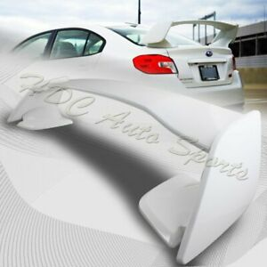 For 2015 2018 Subaru Wrx Sti Oe style Painted White Abs Rear Trunk Spoiler Wing
