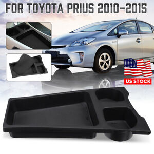 Center Console Organizer Storage Box Cup Holder W Mat For Toyota Prius 10 15 Us