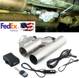 3 76mm Electric Exhaust Muffler Valve E Cut Out System Dump W Wireless Remote