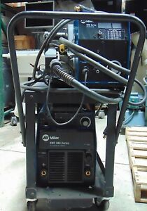 Miller Xmt 304 Cc cv Dc Inverter Arc Welder S 64m Wire Feeder S4476