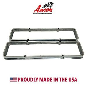 Small Block Chevy Valve Cover Spacers Polished Die Cast Aluminum Ansen Usa