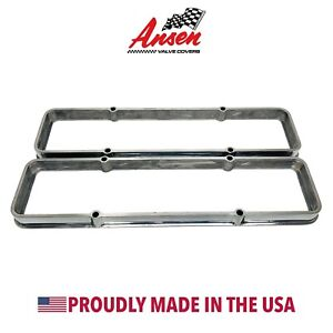 Small Block Chevy Valve Cover Spacers Die cast Aluminum Polished Ansen Usa
