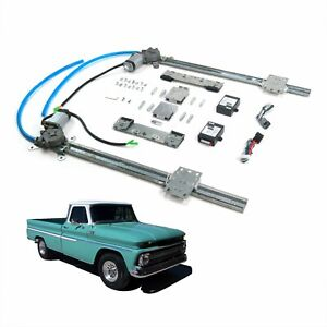 Chevy Truck 63 66 2 Door Flat Glass One Touch Electric Power Window Kit C10 K10