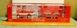 M2 Machines Coca Cola 1970 Chevy C60 Truck w/ Trailer and '68 Camaro SS 350