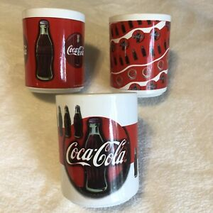Vintage Collectible Gibson Coca Cola Coffee Mugs 1997 Lot of 3