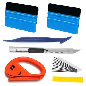 6pcs Pro Car Window Tint Kits Wrapping Vinyl Tools Squeegee Scraper Applicator