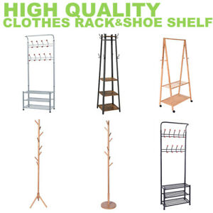 New Clothes Rack Metal Garment Display Rolling Portable Rail Hanger Dryer Stand