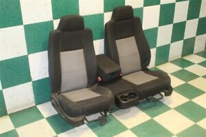06 09 Ranger Ext Cab Driver Passenger Black Gray Cloth Split Bench Seat Oem