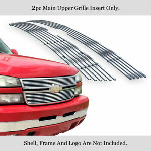 Fits 2005 2006 Chevy Silverado 1500 2500 3500 Stainless Chrome Billet Grille