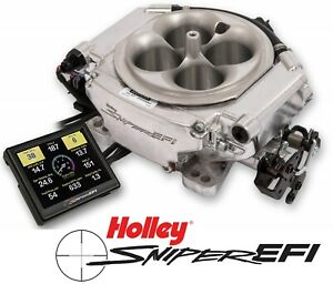 Holley Sniper Efi Xflow 550 540 4 Barrel Fuel Injection System Shiny 800hp N A